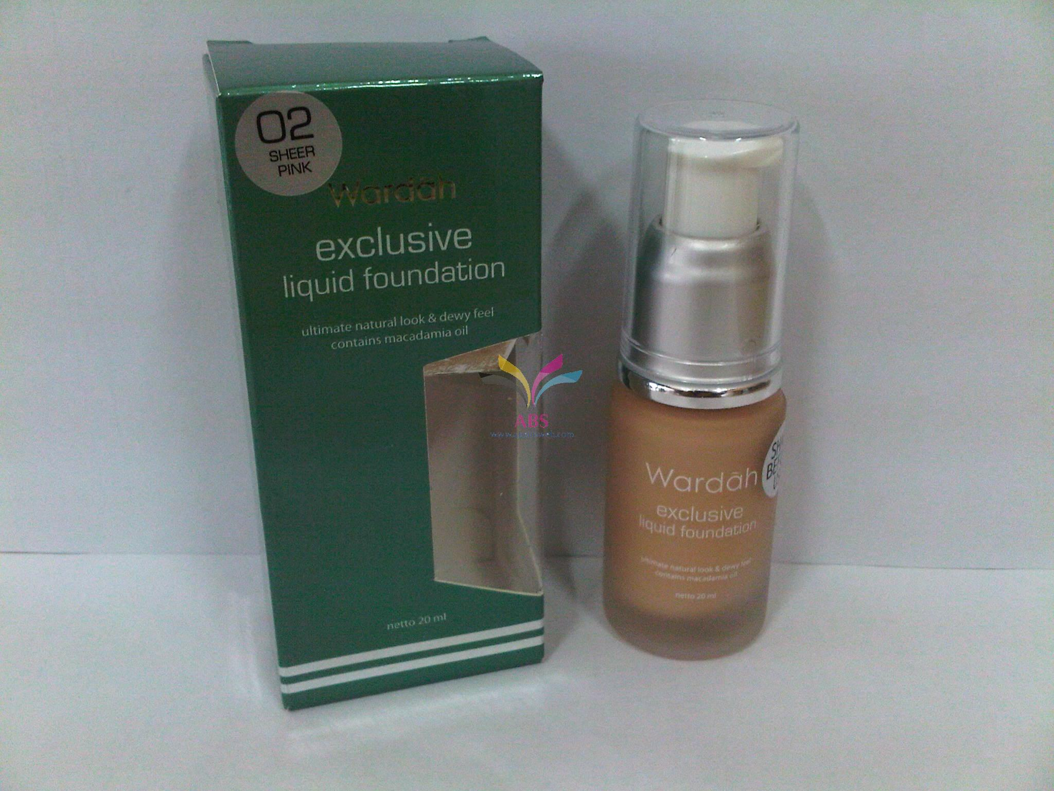 Wardah Exclusive Liquid Foundation 02 Sheer Pink Page 2 Daftar Review Produk Source Exc